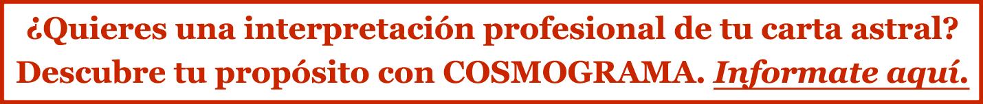 Interpretación de tu carta natal con Cosmograma